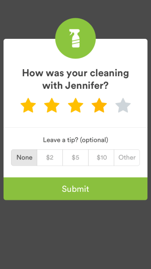 Leaving reviews and tips on iOS by Handy from UIGarage