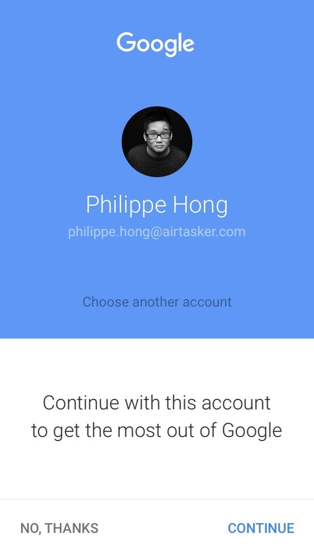 Login screen on iOS by Google from UIGarage