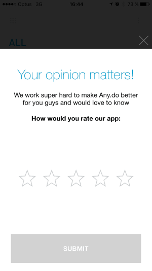 Rating by Anydo from UIGarage