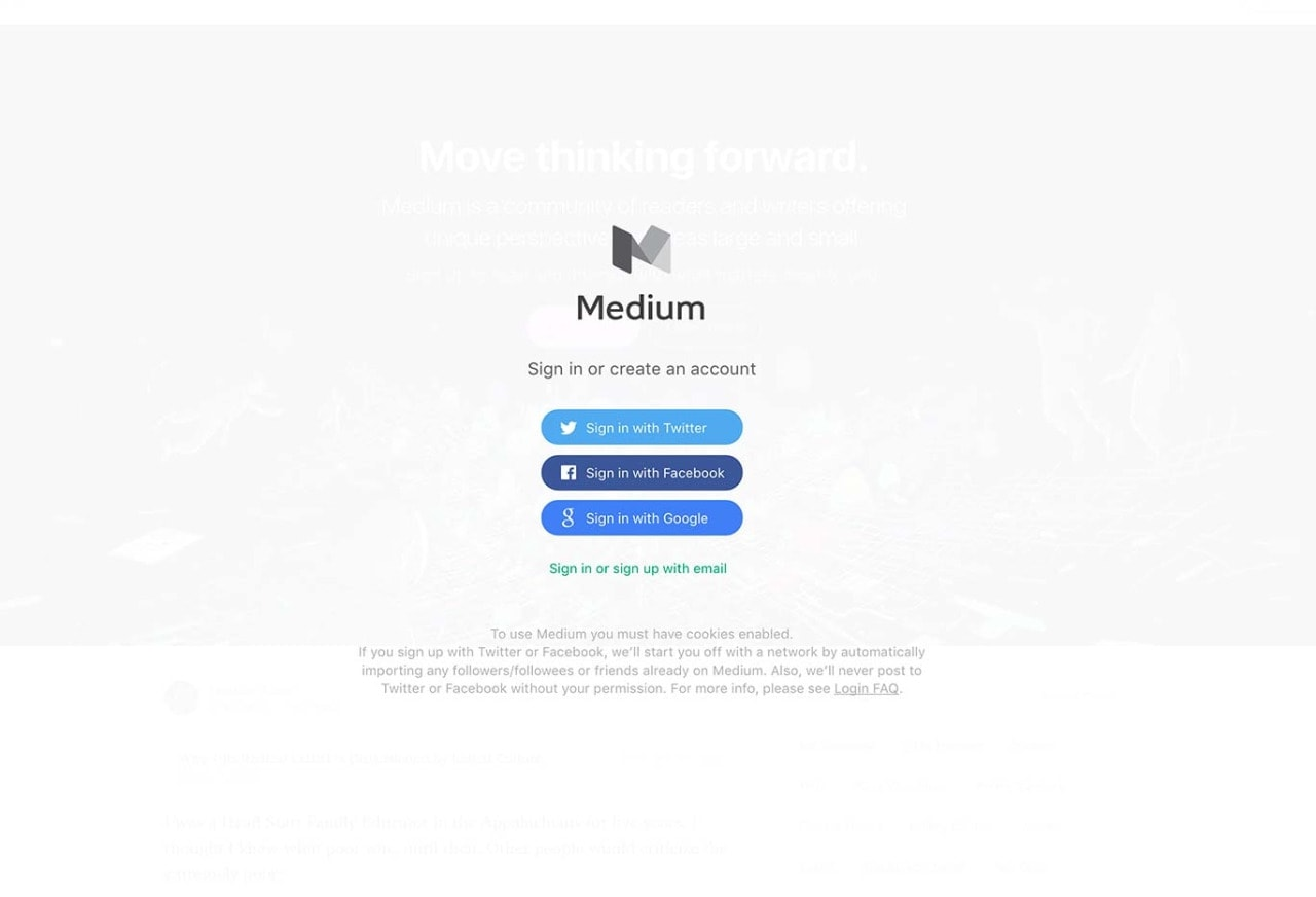 Signup by Medium from UIGarage