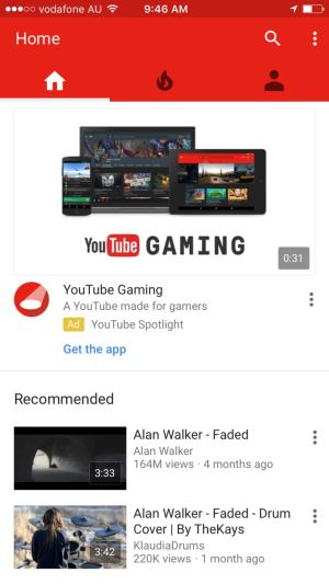 Tab bar by Youtube from UIGarage