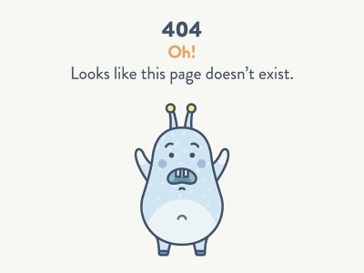 A comical 404 page for web. from UIGarage