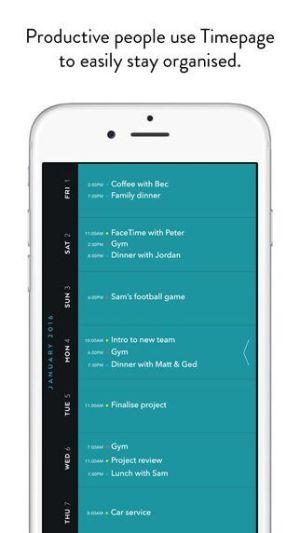 Calendar view on Moleskin app from UIGarage