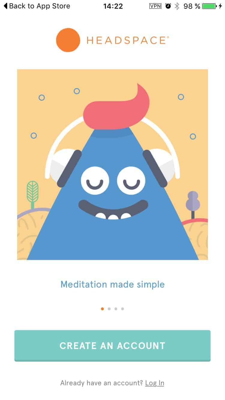 Onboarding on iOS by Headspace from UIGarage