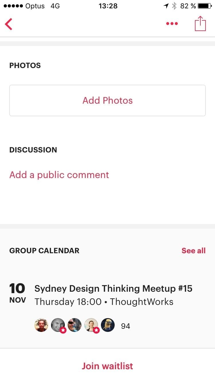 Walkthroughon on iOS by Meetup App from UIGarage