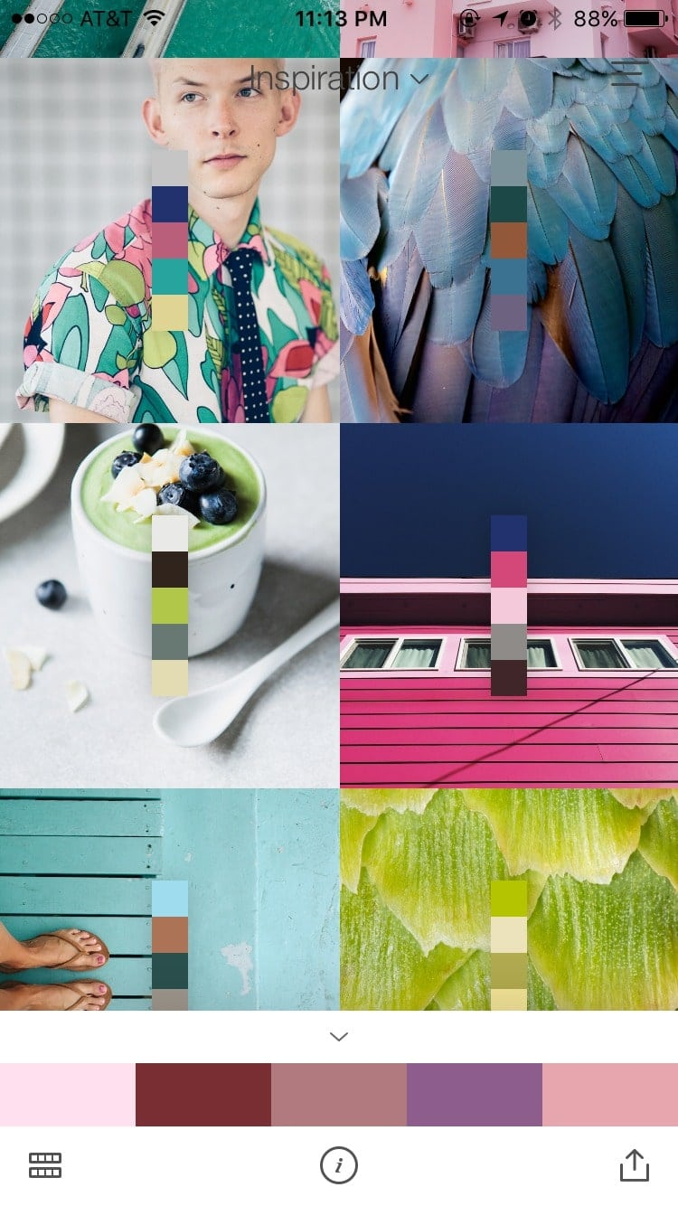 Walkthrough on iOS by Pantone Studio App from UIGarage