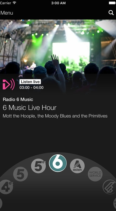 Radio Music Player by BBC from UIGarage