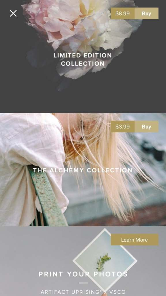 Product Gallery by VSCO from UIGarage