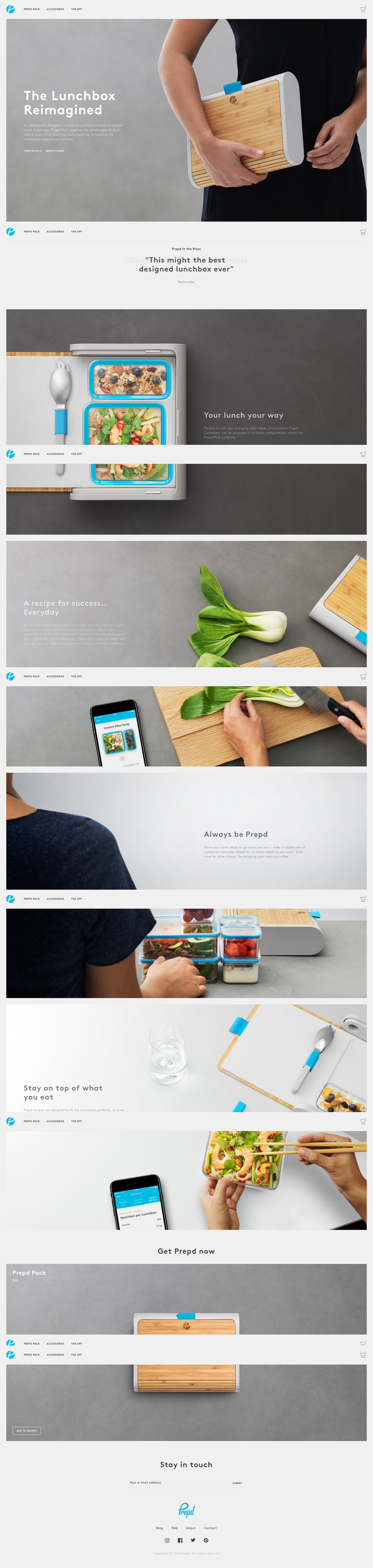 Homepage by Prepd from UIGarage