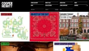 Website Inspiration by Cooper Hewitt from UIGarage