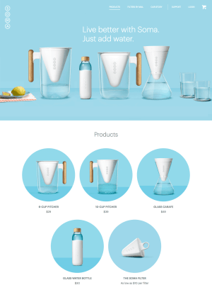 Homepage by Soma from UIGarage
