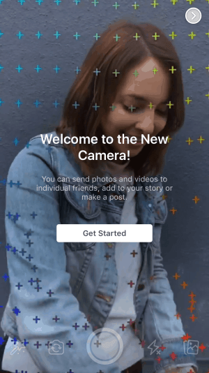Facebook Camera Launch Screen from UIGarage