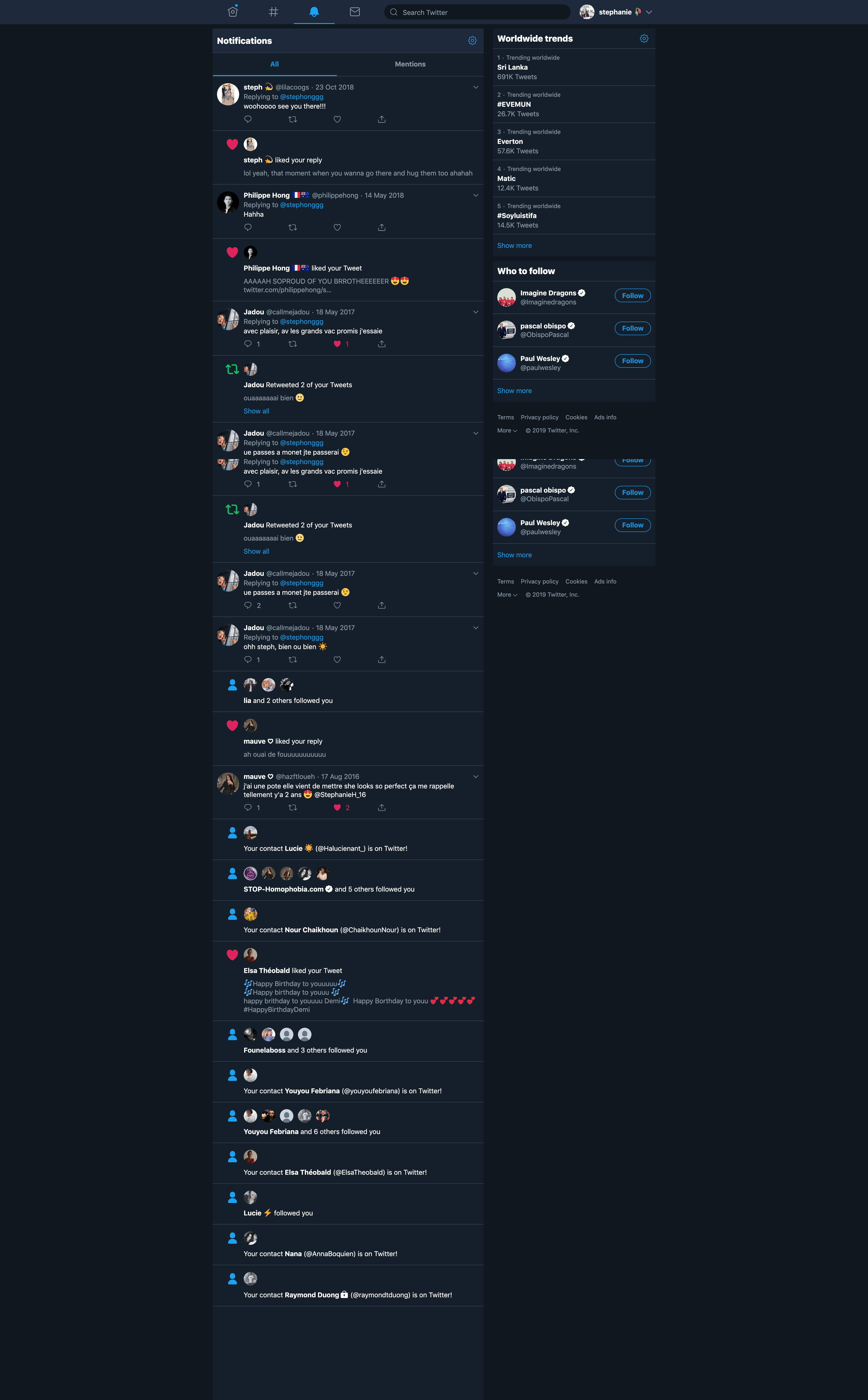 Notifications/Dark Mode by Twitter from UIGarage