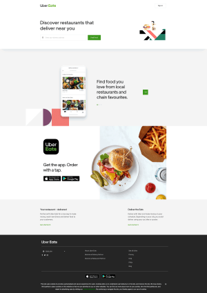 Home Page by Uber Eats from UIGarage