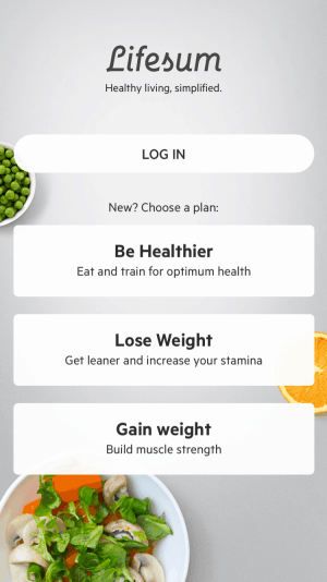 Log In By Lifesum from UIGarage