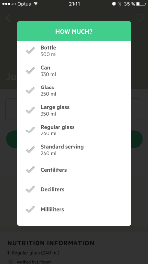 Pop up List by Lifesum from UIGarage