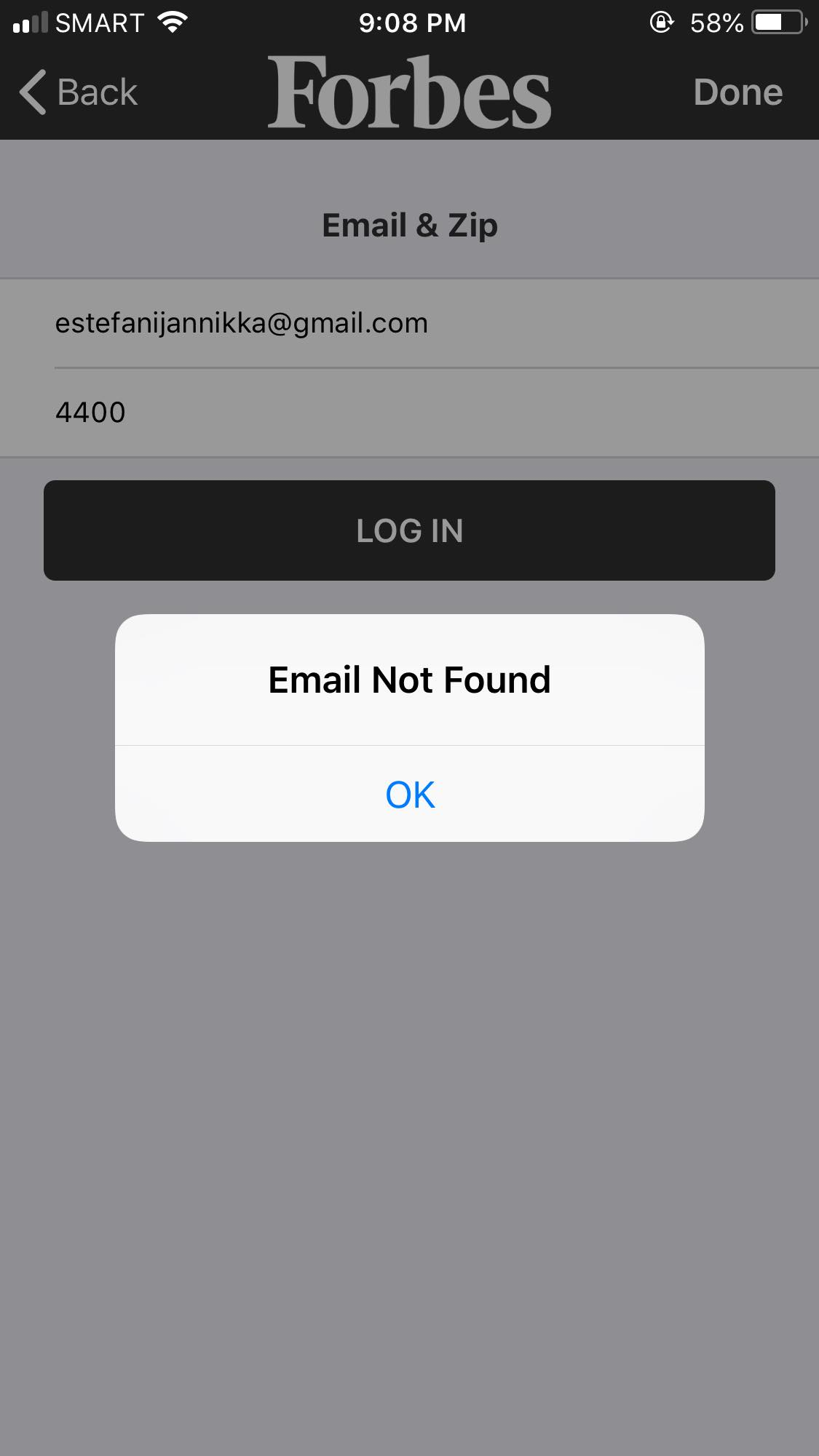 Alert on iOS by Forbes from UIGarage