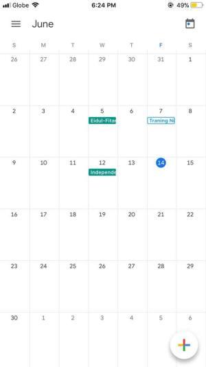 Calendar on iOS by Google Calendar from UIGarage