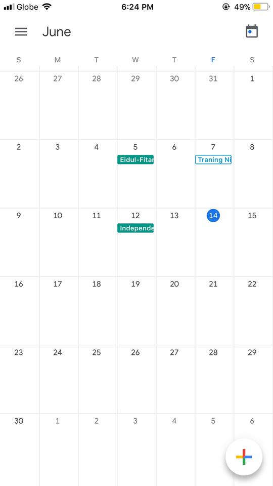 Calendar on iOS by Google Calendar from UIGarage