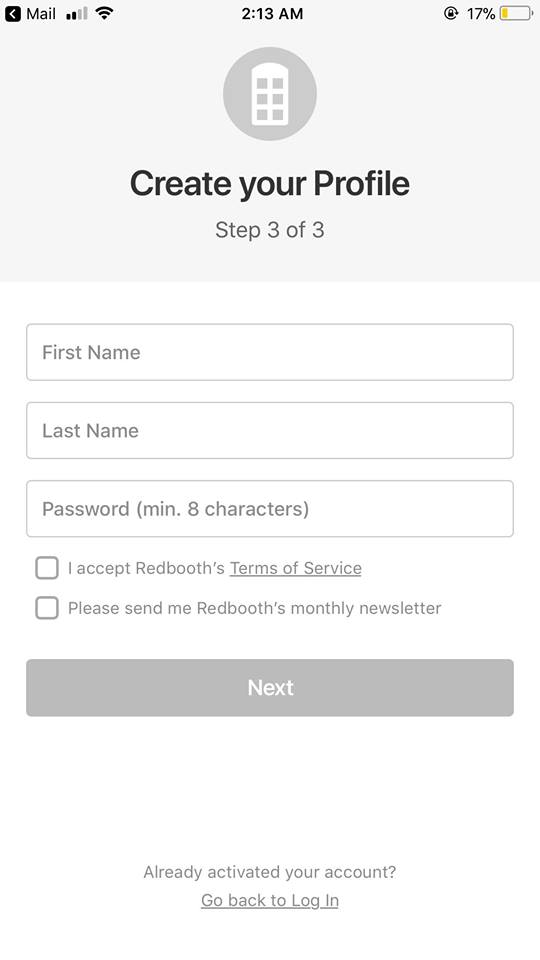 Onboarding on iOS by Redbooth from UIGarage