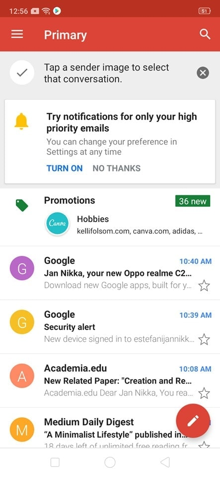 Home on Android by Gmail from UIGarage