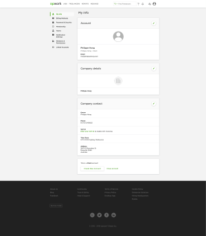 Profile Page by Upwork from UIGarage