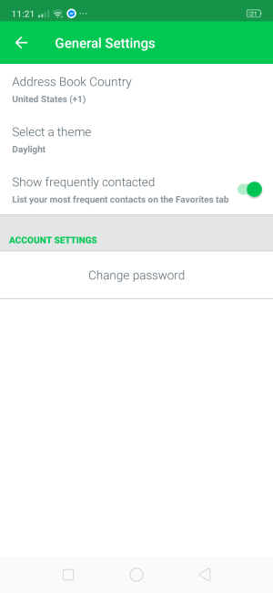 Settings on Android by Text Plus from UIGarage