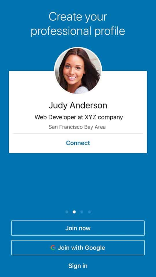 Walkthrough on iOS by LinkedIn from UIGarage