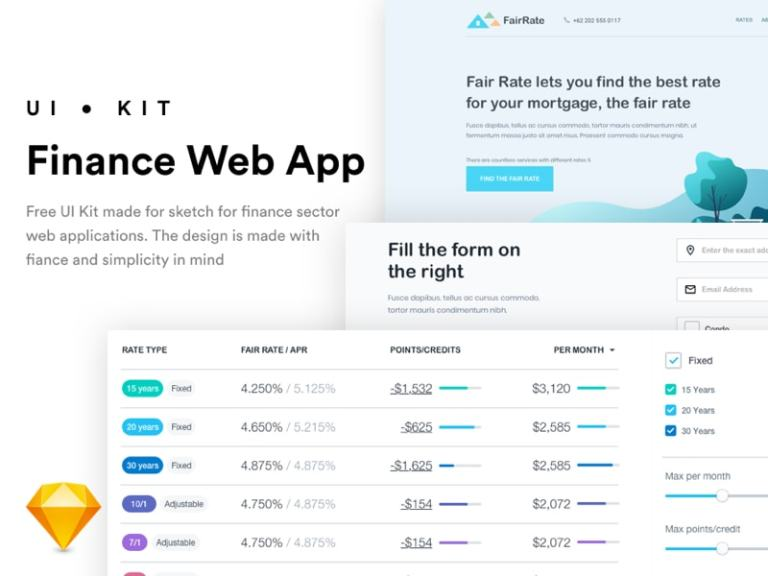 FairRate - Finance Web App UI Kit from UIGarage