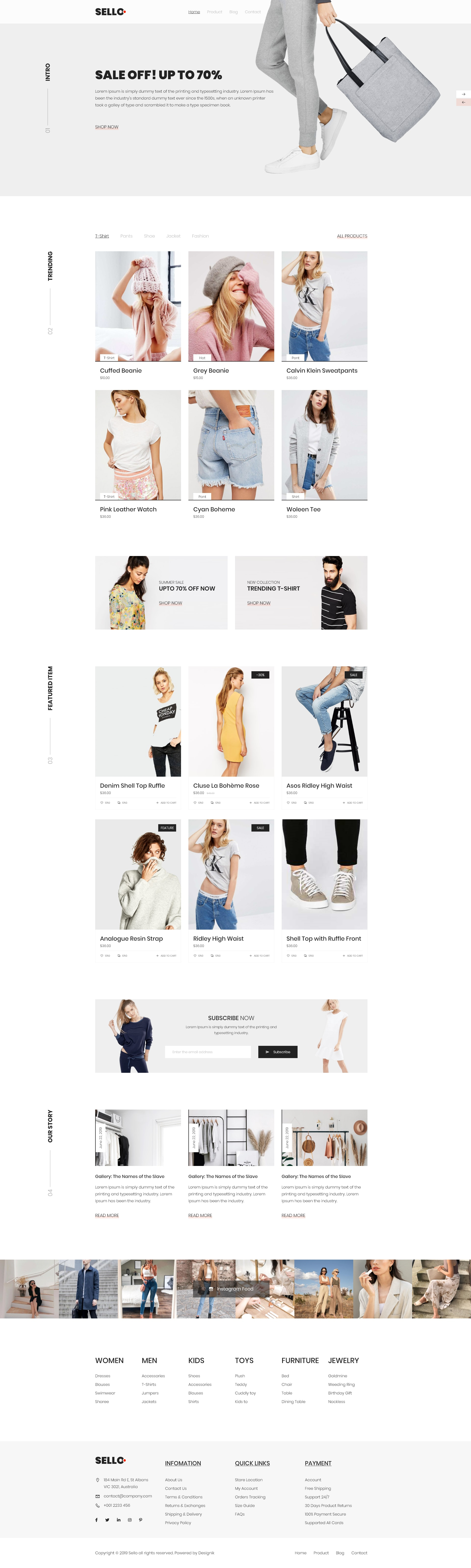 Sello - Mininal E-Commerce Website from UIGarage