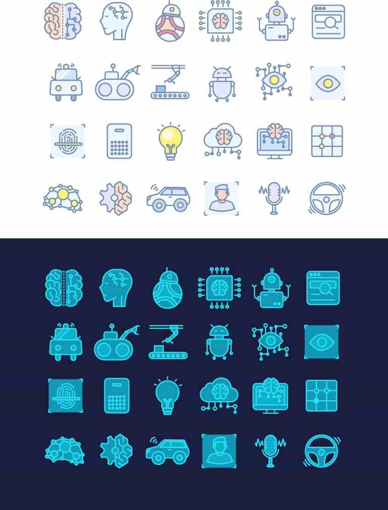 AI Free Icon Set by Xiaojianj from UIGarage