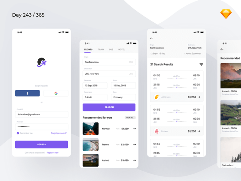 Flight Booking App from UIGarage