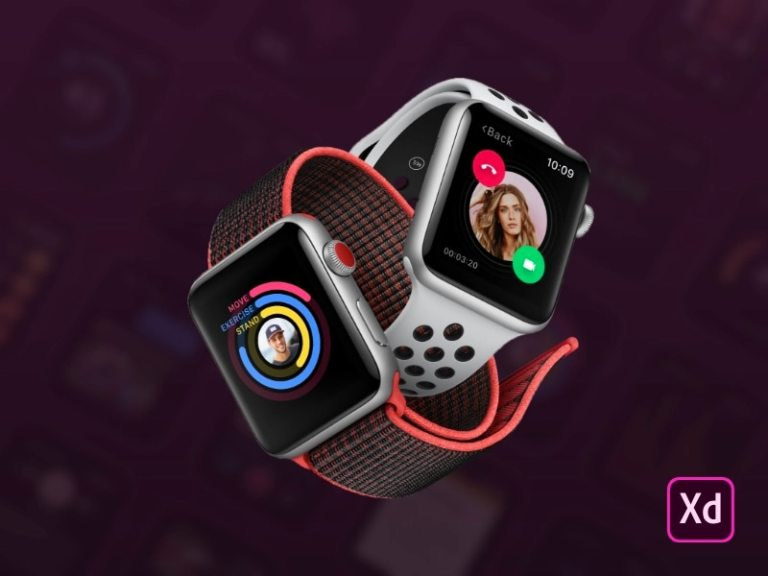 Smartwatch UI Kit for Adobe XD from UIGarage