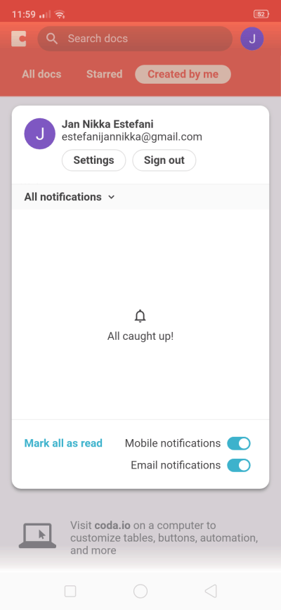Notifications on Android by Coda from UIGarage
