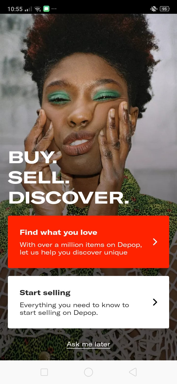 Walkthrough on Android by Depop from UIGarage