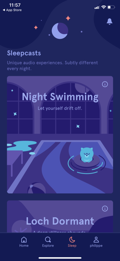 Sleep by Headspace on iOS 2019 from UIGarage