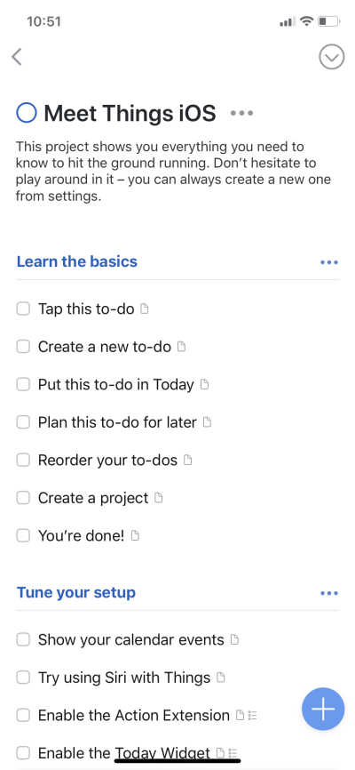 To Do list by Things on iOS from UIGarage
