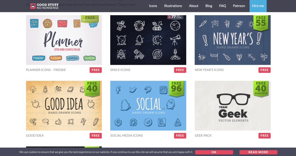 Top 10 Free-Icon Websites for Designers and Craftsmen from UIGarage