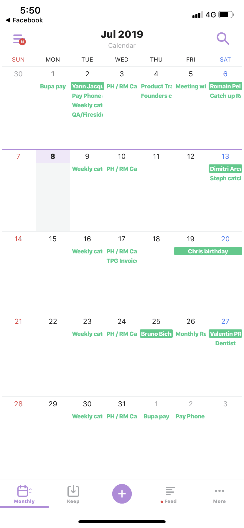 Calendar on iOS by TimeTree from UIGarage