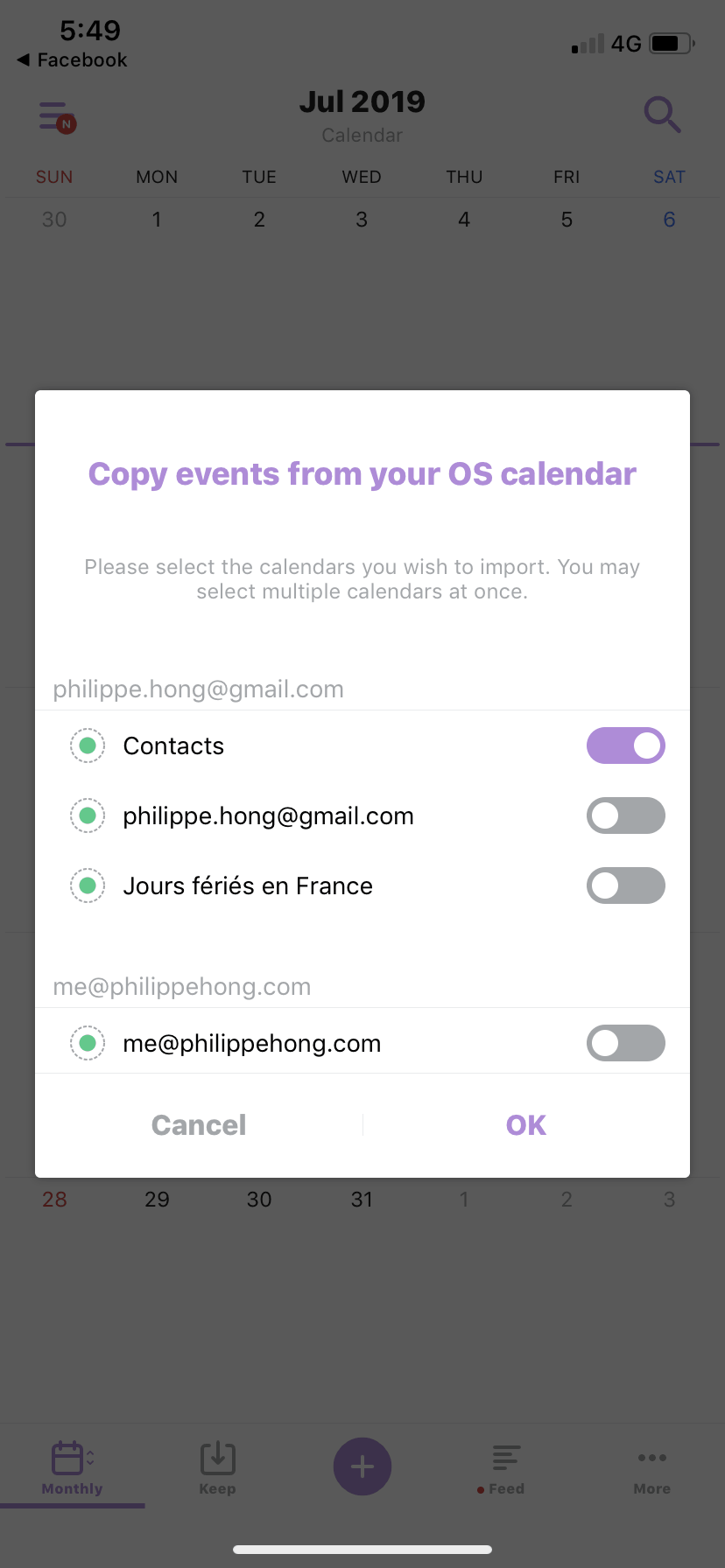 Copy Events on iOS by TimeTree from UIGarage