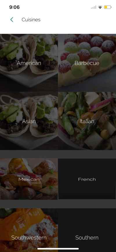 Cuisines on iOS by Yummly from UIGarage
