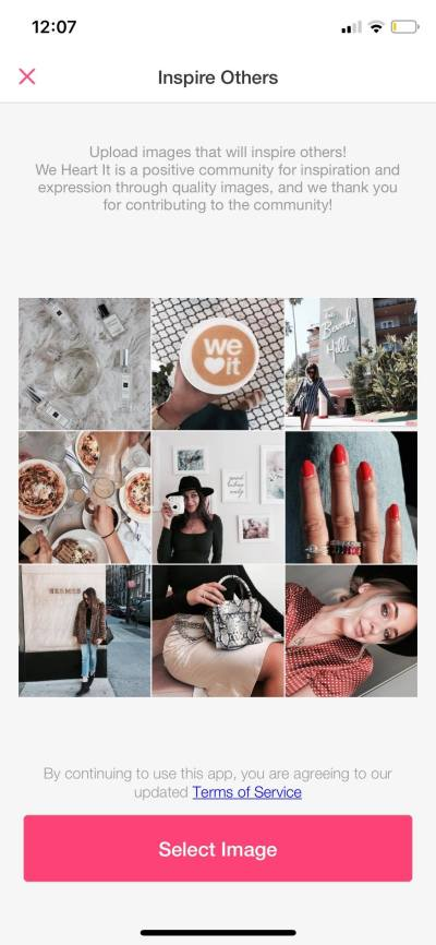 Inspire Others on iOS by We Heart It from UIGarage