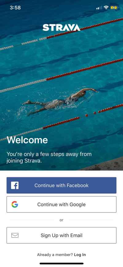 Login on iOS by Strava from UIGarage
