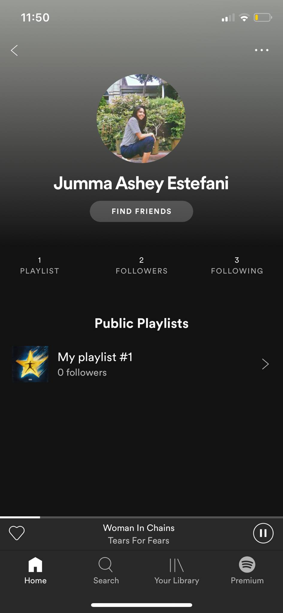 Profile on iOS by Spotify from UIGarage