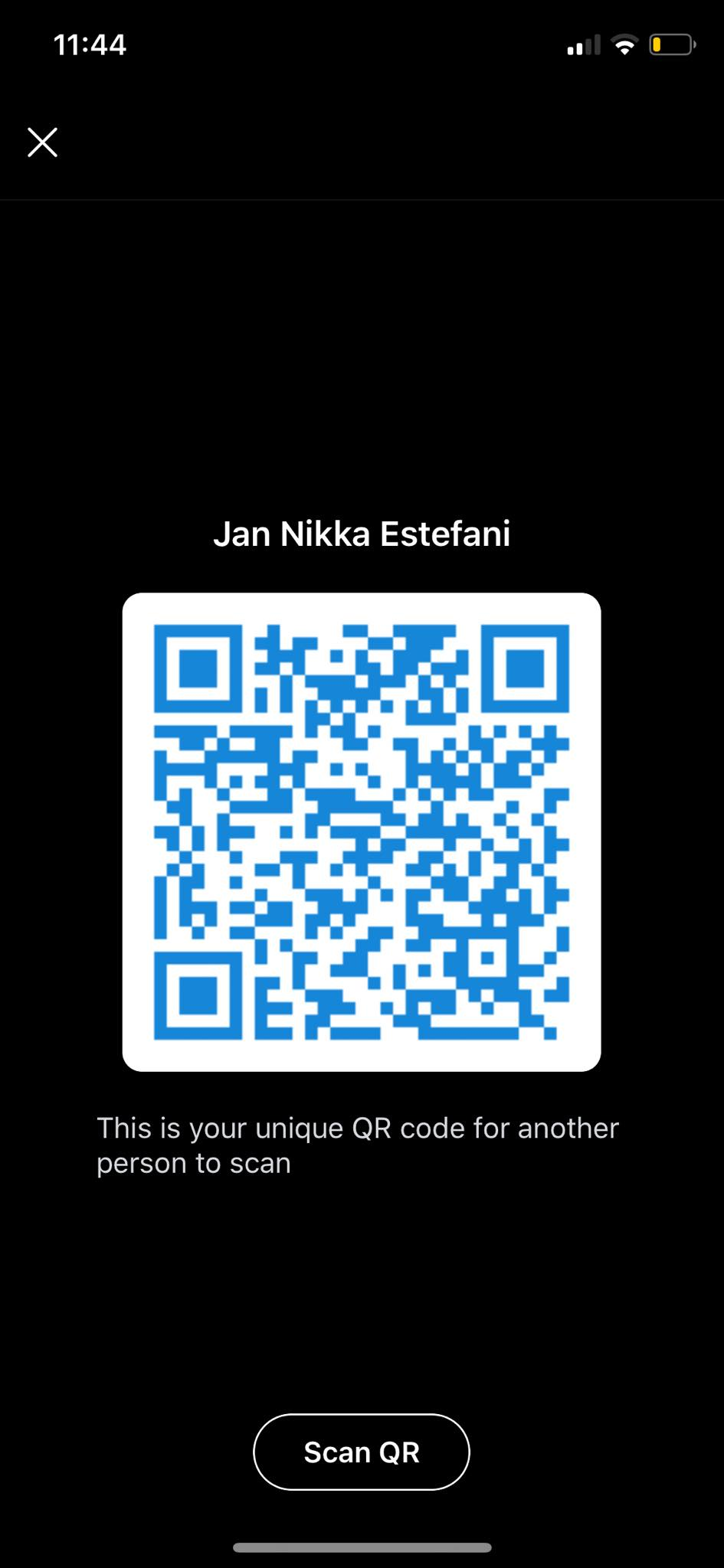 QR COde on iOS by Skype from UIGarage
