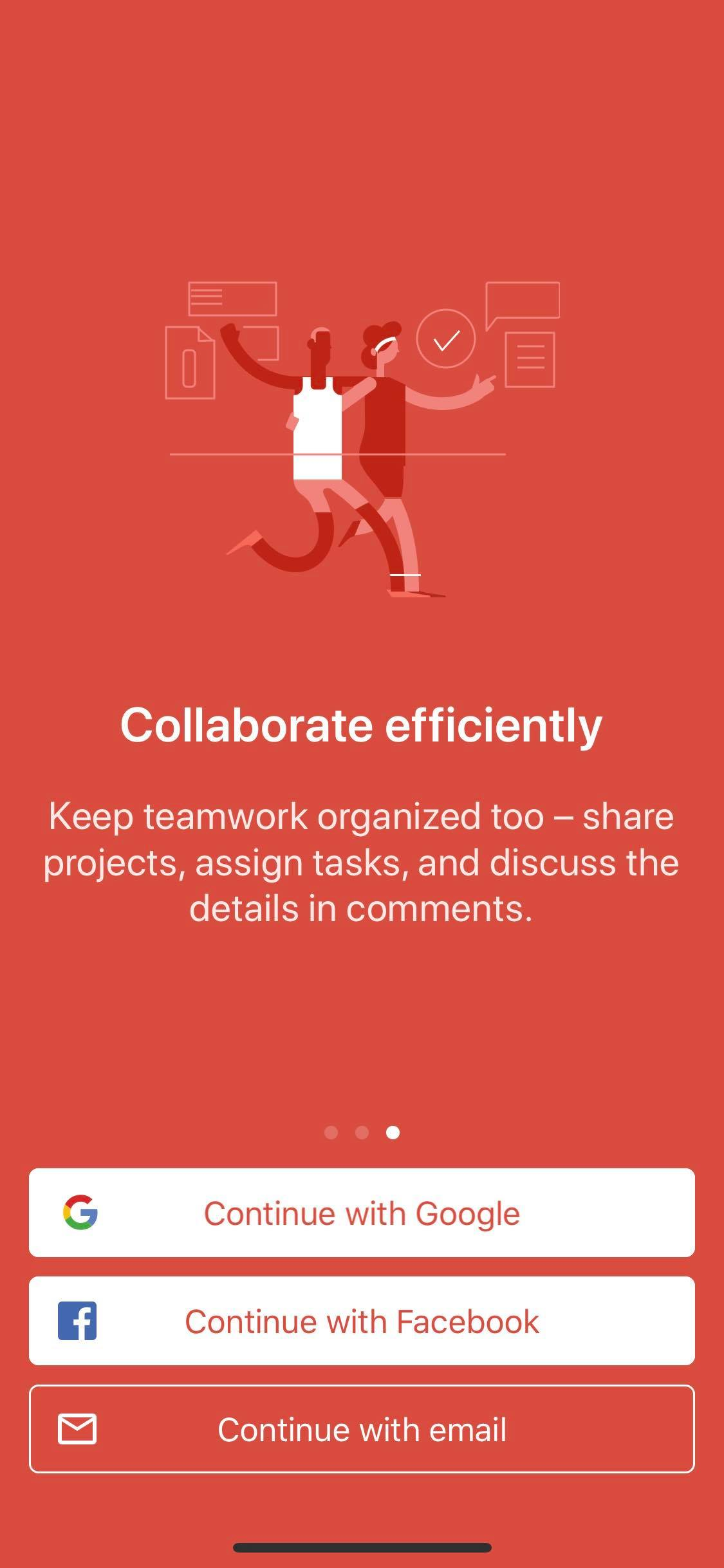 Walkthrough on iOS by Todoist from UIGarage
