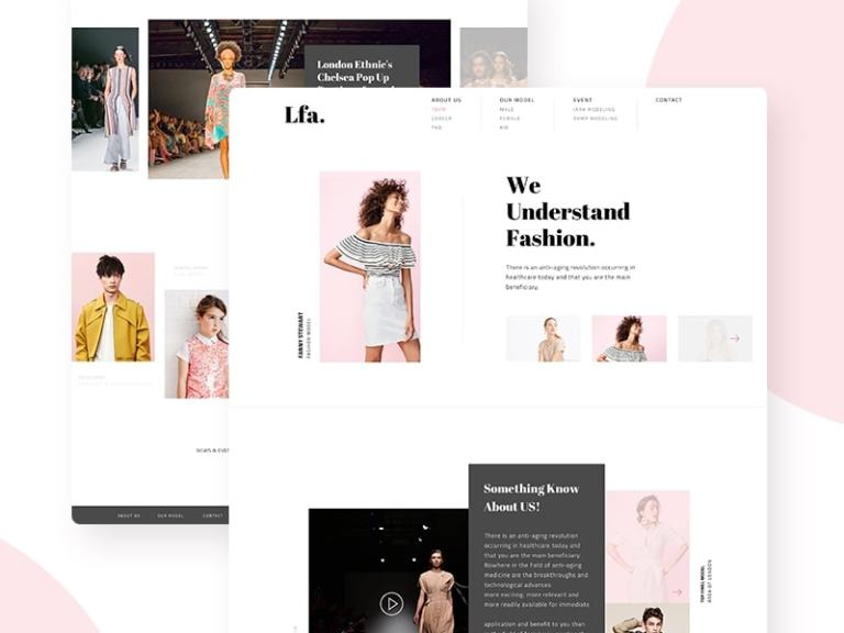 LFA - Fashion Agency Website from UIGarage