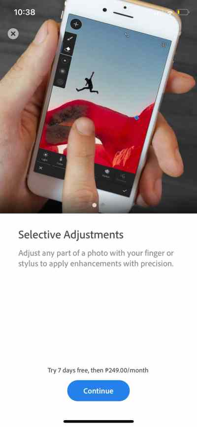 Selective Adjustment on iOS by Adobe Lightroom from UIGarage