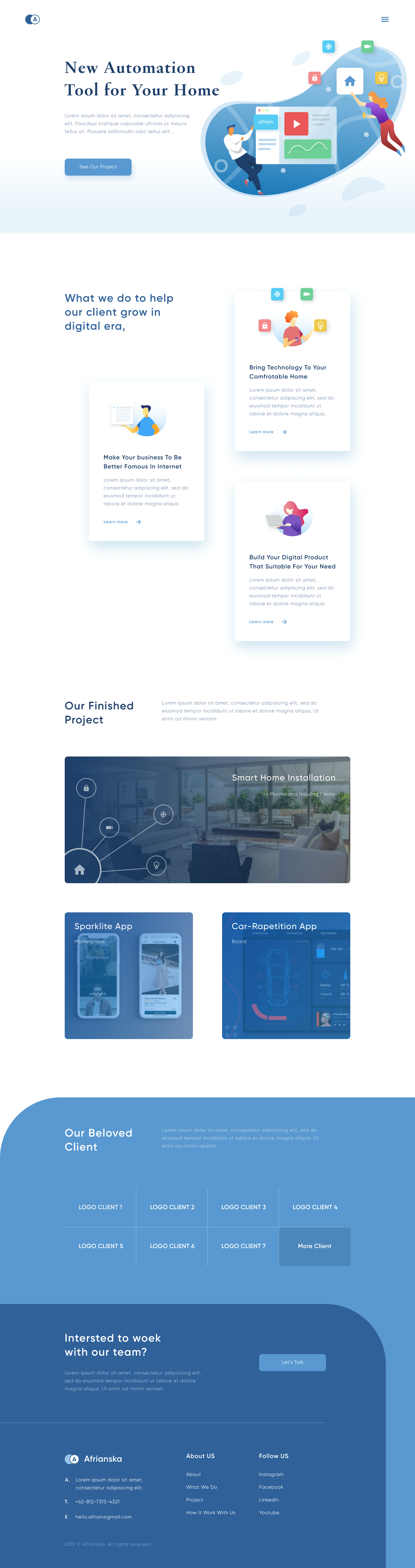 Smart Home Landing Page for Figma from UIGarage
