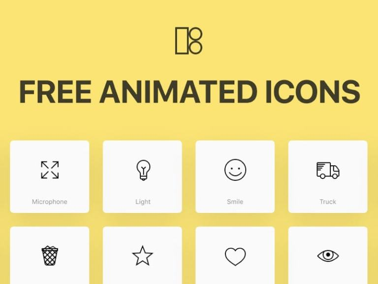 Animated Icons - 200 Free Icons from UIGarage